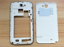 Battery door Cover+Middle Frame Housing for SAMSUNG GALAXY NOTE 2 II N7100 White