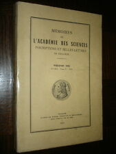 MEMOIRES DE L'ACADEMIE DES SCIENCES DE TOULOUSE - Volume 135 - 1973