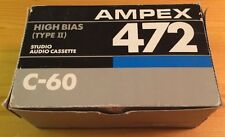 BOX OF 10 New Ampex 472 C60 High Bias IEC Type 2 Studio Audio Cassette Tapes