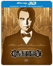 The Great Gatsby (3D Blu-ray, 2013, 2-Disc Set) STEELBOOK