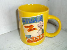 2012 Aardman WALLACE & GROMIT Tea Mug Cup Yellow Time For Tea Job Well Done