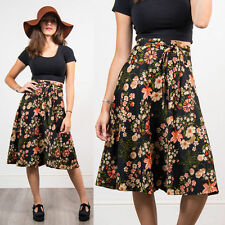 VINTAGE 70'S FLORAL PATTERN SKIRT FLIPPY FULL BOHO HIPPIE SUMMER STYLE CUTE 10
