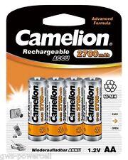 6 x Camelion AA HR6 Mignon 2700mAh Akku incl. Aufbewahrungsbox 1,2V Blister