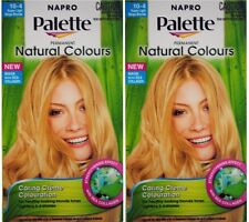 2 NAPRO NATURAL COLOURS PERMANENT BLONDE HAIR COLOUR 10-4 SUPER LIGHT BEIGE NEW