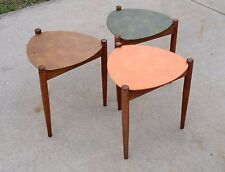 Mid Century Stacking Nesting Tables Danish Modern Style Guitar Pick Tops