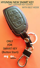Hyundai Art Leather SMARTKEY Cover - Creta, i10Grand, Elite i20, Verna4s, Active