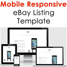 Mobile Responsive eBay Listing Template Auction Gallery Html Professional Design
