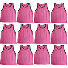 12 GIRLS PINK Scrimmage VESTS Training Pinnies Soccer Softball size YOUTH - NEW!