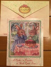 SUSAN WHEELER Greeting Card Holly Pond Hill Bunny Rabbit CAKE BIRTHDAY Friend