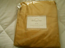 "ONE POTTERY BARN WHEAT GOLD SILK DUPIONI DRAPE DOUBLEWIDE  104""X108"" SVRL AVAIL"