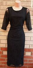 G21 FLORAL LACE CROP SLEEVE LONG PENCIL FORMAL PARTY BODYCON TUBE RARE DRESS M
