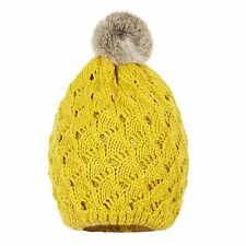 New Fashion Luxury Women Soft Knit Wool Cap Beanie Fur Pom Pleated Lining Hat