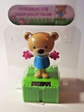 Solar Dancing Bear With Pink Flower