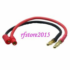 HXT 3.5mm Male to 4mm Banana Plugs Bullet Charger Lead Wire for Lipo Battery
