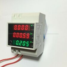 AC 110V 220V Digital DIN RAIL 100A KWH watt energy power meter Ammeter Voltmeter