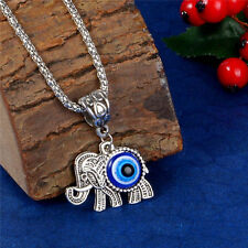 1pc Turkish Evil Eyes Necklace Elephant Pendant Smooth Opal Gift For Women