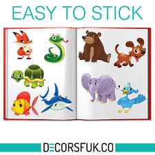 Animales de la etiqueta engomada-Pegatinas Para Niños-Windows Stickers-hoja de tamaño A4 Con Animales