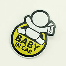 "Prompt Sticker Yellow ""BABY IN CAR"" Aluminum Alloy Auto Car Sticker Badge Decor"