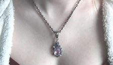 Vintage Alexandrite Necklace made with Swarovski Crystal Victorian Valentine