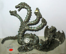 2 Large Pewter & Crystal Dragon Figurines Hydra and SUNGLO DeNicolo 91 Hydra