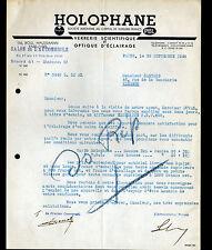 """PARIS (VIII°) VERRERIE SCIENTIFIQUE & LAMPES Automobile """"HOLOPHANE"""" en 1936"""