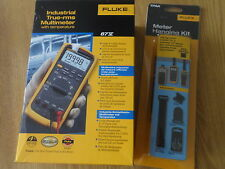 Fluke 87V digital multimeter ***new***  with 4 piece TPAK hanger kit