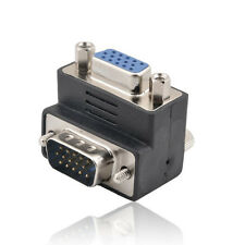 15-Pin VGA Male to Female M/F Right Angle Adapter LW