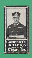 LAMBERT & BUTLER - VERY RARE MILITARY / NAVAL / ADMIRALS CARD - FREMANTLE - 1900
