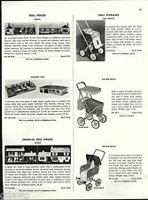 1956 ADVERT Marx Doll Mouse L Shaped Ranch Colonial Plastic Art Doll Buggies