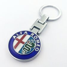 Metal Car double side Logo keyring key chain pendant Key Holder for Alfa romeo