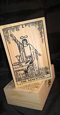 HANDCRAFTED WOODEN TAROT CARD BOX FOR STORING YOUR TAROT CARDS