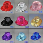 1X Unisex Glitter Sequin Fedora Trilby Cap Dance Jazz Hat Gangster Party Costume