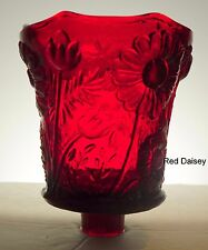 Home Interiors Red Daisy Floral Votive Cup w/ rubber grommet
