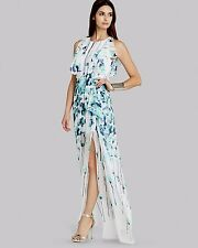 NEW BCBG MAX AZRIA AQUA CO MARIBEL DRAPED-SIDE SKIRT GOWN ZVZ63A76 SIZE 10 $368