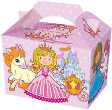 10 Principesse Scatole Festa - Cibo Bottino Pranzo Cartone Regalo Bambini