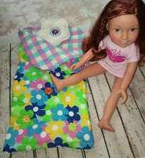 "HANDMADE sleeping bag fits Design a Friend, Our Generation, 18""doll SALE"