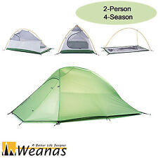 Weanas 2 Person 4 Season Dome Tent Waterproof Double Layer Camping Ultralight