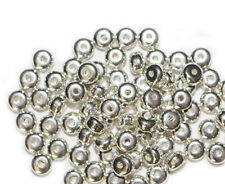 4x6mm Rondelle Disc Spacer Bright Silvertone Metalized Metallic Beads