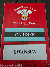 CARDIFF v SWANSEA - SAT 2nd MAY 1987 RUGBY PROGRAMME