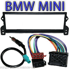 BMW Mini R50 R52 R53 Autoradio Blende + ISO Rund Pin Adapter + Antennenadapter