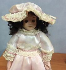 28cm Beautiful Porcelain Doll - Excellent Condition with stand