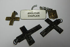 5 mixed religious badges Crosses and keyring