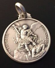 Saint Michael Archangel ✙ Blessed by Pope - 925 SILVER MEDAL - Patron of Police
