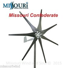 DC output Missouri Confederate 500 watt 7 blade 12 volt home wind turbine