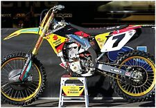 JAMES STEWART SUZUKI RMZ450 SUPERCROSS RACE BIKE GIANT POSTER motocross bubba sx