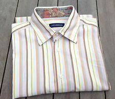 "Luca Grimaldi Man's 100% Cotton Shirt (Collar Size 16""; 41cm; Chest: 44""; 112cm)"
