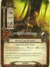 Lord of the Rings LCG  - 1x Boar Clan Stalker  #017 - The Dunland Trap
