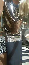 """Sass & Bide """"GET A LEG UP"""" Sequin Embellished Side Splits Dress Size 38 (8-10)"""