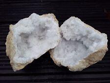 Big Pair of Quartz Natural Crystal Geode  - 5.643kg!! Cluster Specimen