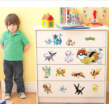 Pokemon Go Pikachu Mural Wall Decals Sticker Kids Room Decor Removable Vinyl Art